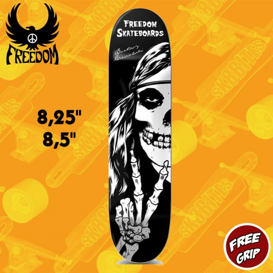 "Freedom Skateboards ""Crimson Hippie"" Pro Skateboard Street Deck"