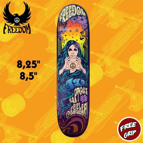 "Freedom Skateboards ""Love & Peace"" Pro Deck Tavola Skateboard Street"