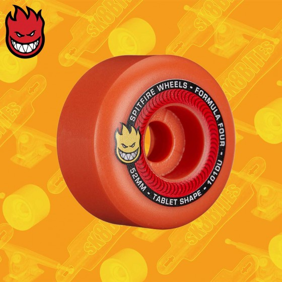 Spitfire Tablets 101D Formula Four Aurora Red 52mm Ruote Skateboard Street