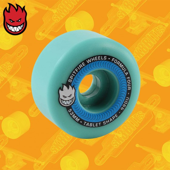 Spitfire Tablets 99D Formula Four Ice Blue 54mm Ruote Skateboard Street
