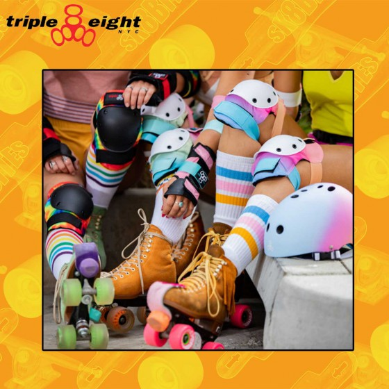 Triple Eight Saver Color Series Sunset Longboard Skateboard Skates Pads