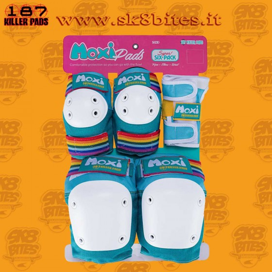 187 Killer Pads Moxi Adult Super Six Jade Protezioni Skateboard Longboard Pattini Roller
