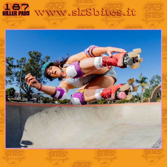 187 Killer Pads Moxi Adult Super Six Lavender Protezioni Skateboard Longboard Pattini Roller