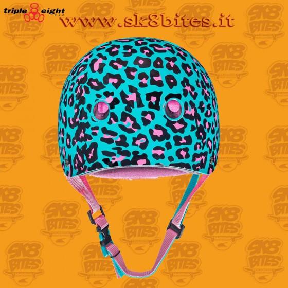 Triple Eight Moxi Leopard Certified Sweatsaver Skateboard Longboard Roller Helmet