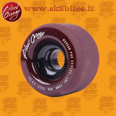 Blood Orange Morgan Pro Midnight 70mm 82a Longboard Slide Freeride Wheels