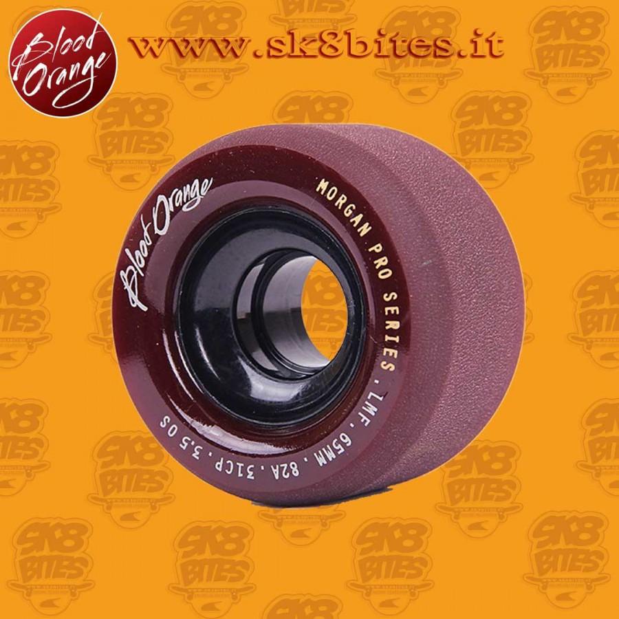 Blood Orange Morgan Pro Midnight 65mm 82a Longboard Slide Freeride Wheels