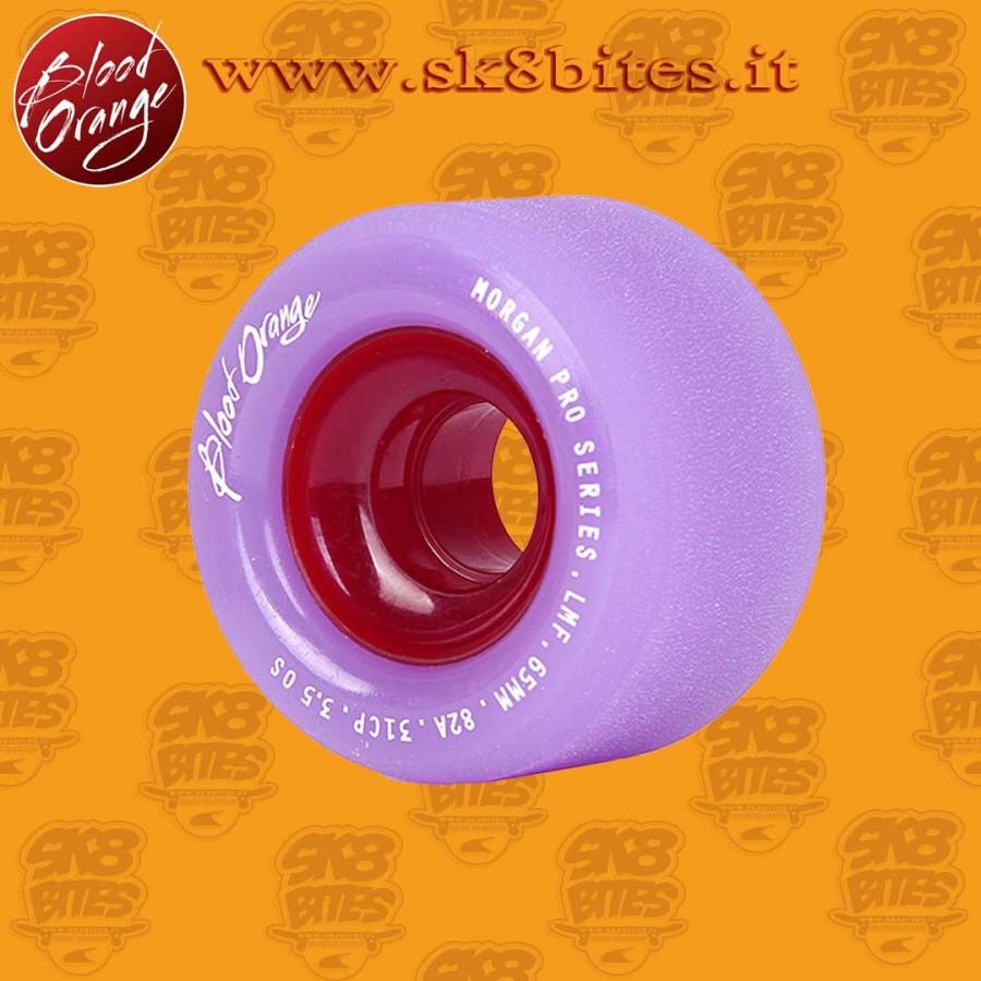 Blood Orange Morgan Pastel 65mm 80a Longboard Slide Freeride Wheels