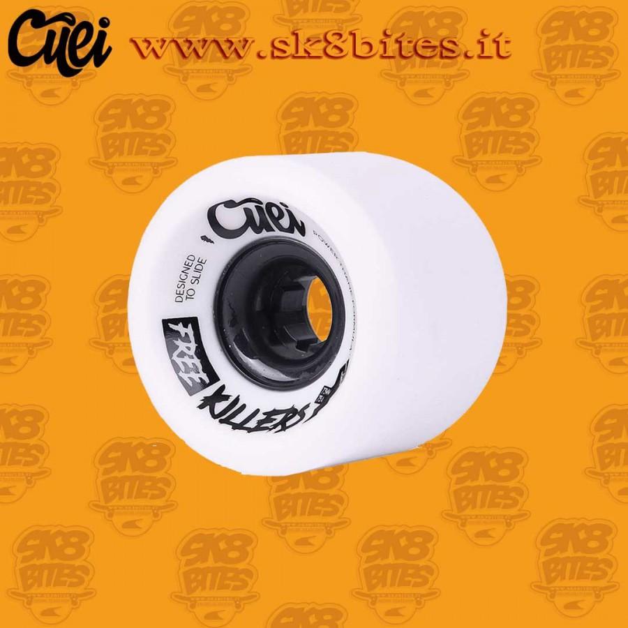 Cuei Free Killers 73mm 75a White Longboard Slide Freeride Wheels
