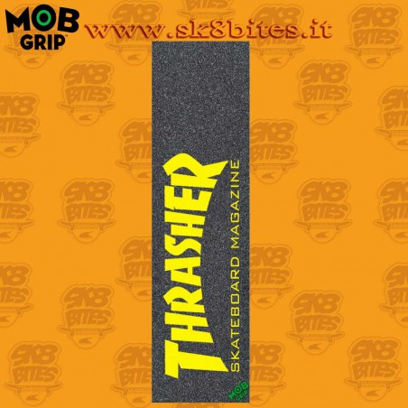 "MOB Thrasher Skate Mag Yellow 9""x33"" Graphic Skateboard Grip Sheet"