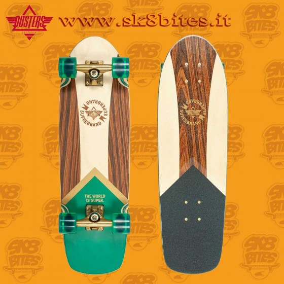 """Dusters Superbrand Green Gold 29,5"""" Complete Cruising Carving Deck"""