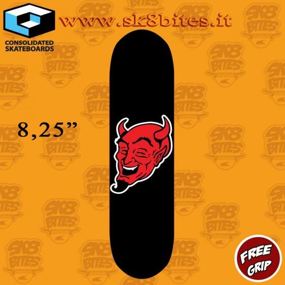 """Consolidated Skateboards Devil Face 8,25"""" Skateboard Street Deck"""