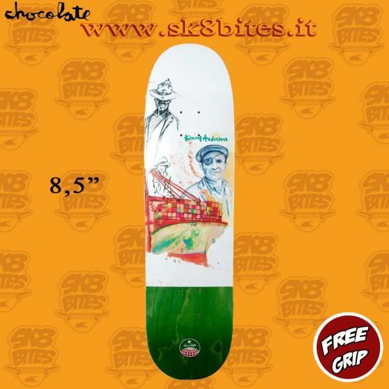 """Chocolate Stevedore Anderson 8,5"""" Skateboard Street Pool Deck"""