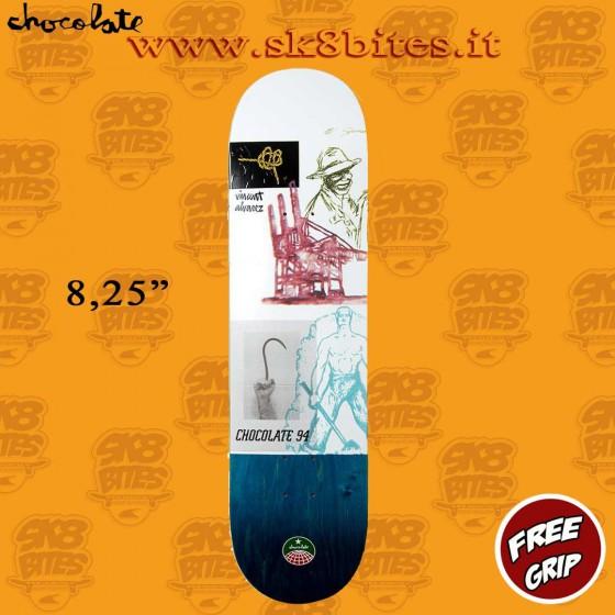 "Chocolate Stevedore Alvarez 8,25"" Skateboard Street Pool Deck"