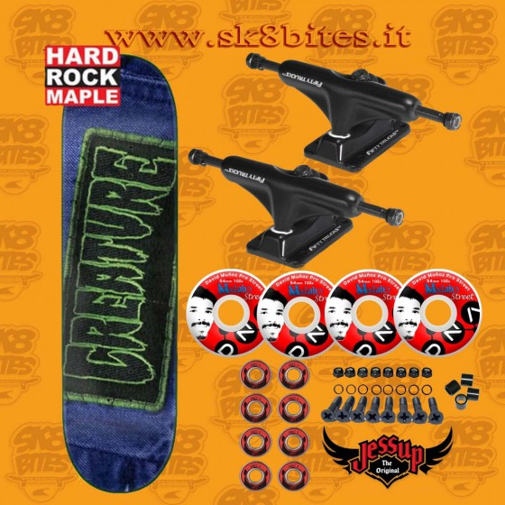 """Creature Patched SM 8"""" Ricta Set Up Skateboard Street Pool Deck"""