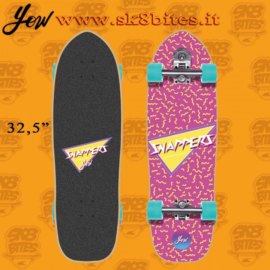 """Yow Snappers 32.5"""" Surfskate Carving Deck"""