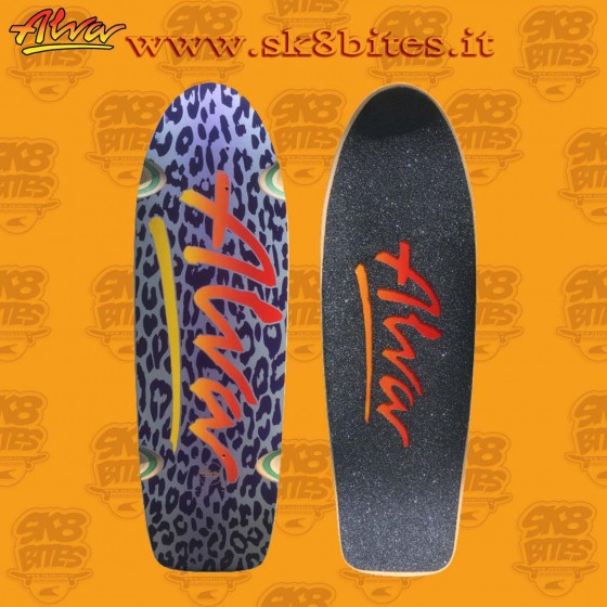 "Alva Dagger Tail Re-Issue Black 10"" Skateboard Oldschool Street Deck"