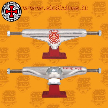 Independent Colored Stage 11 Milton Martinez Silver Red 144mm Skateboard Street Pool Trucks