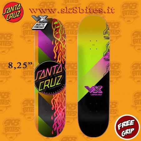 """Santa Cruz Afterglow Dot VX 8.25"""" Skateboard Street Deck"""