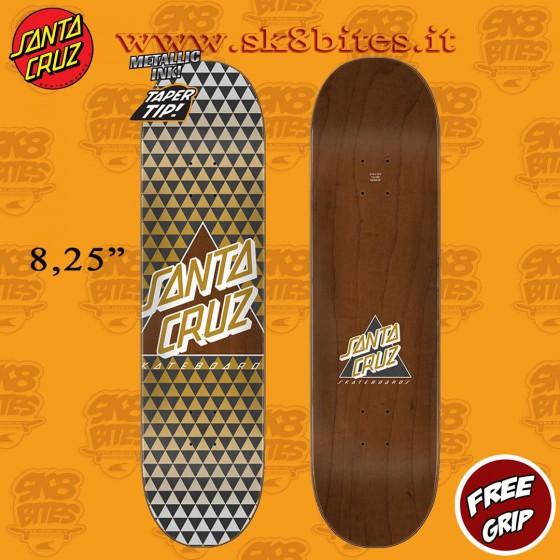 "Santa Cruz Not a Dot Taper Tip 8.25"" Skateboard Street Deck"