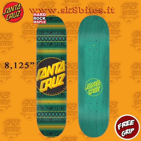 "Santa Cruz Serape Dot Hard Rock Maple 8.125"" Skateboard Street Deck"