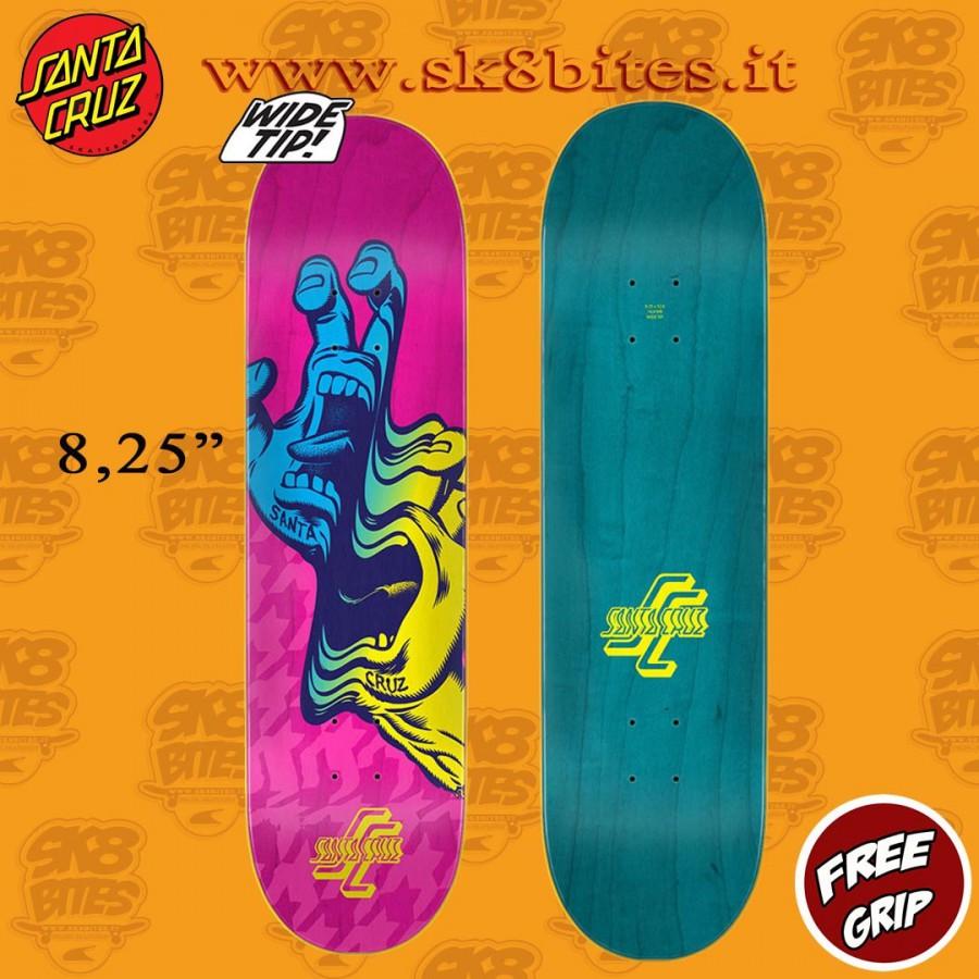 "Santa Cruz Glitch Hand Wide Tip 8.25"" Skateboard Street Deck"