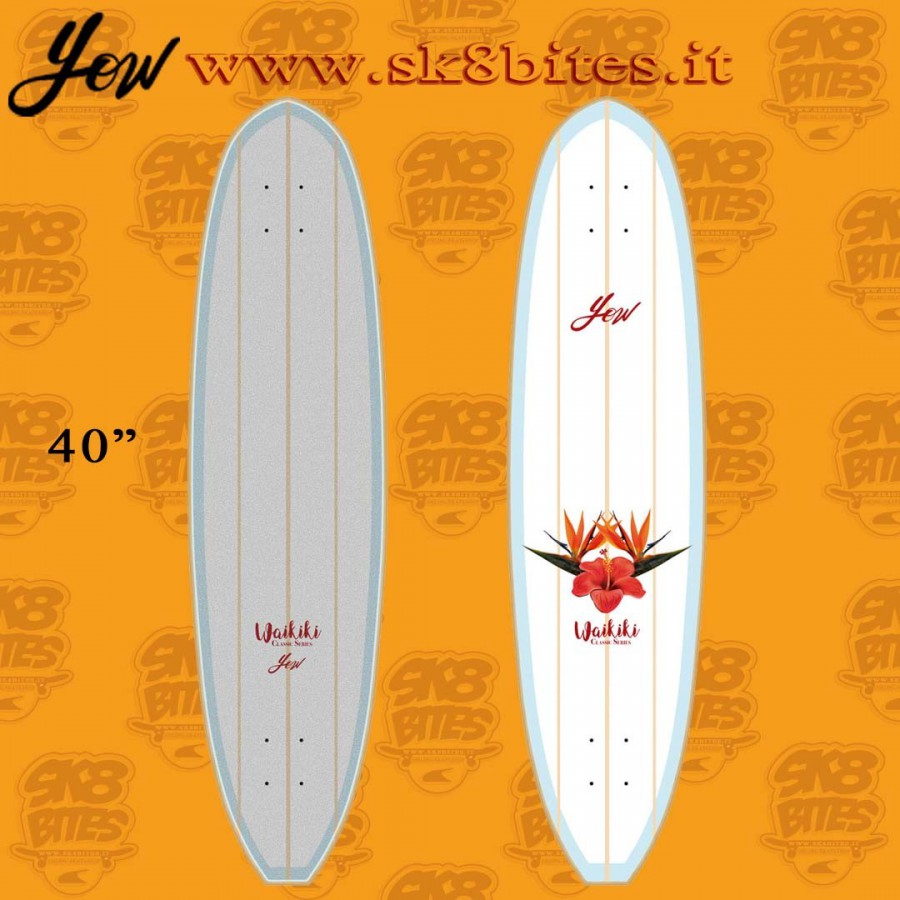 """Yow Waikiki 40"""" Surfskate Carving Deck"""