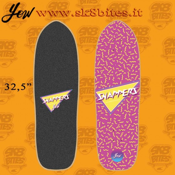 """Yow Snappers 32,5"""" Surfskate Carving Deck"""