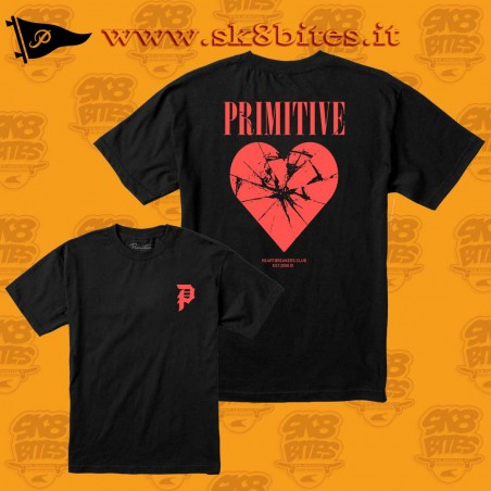 Primitive Shattered Tee Black Skateboard Street Unisex Urban Clothing