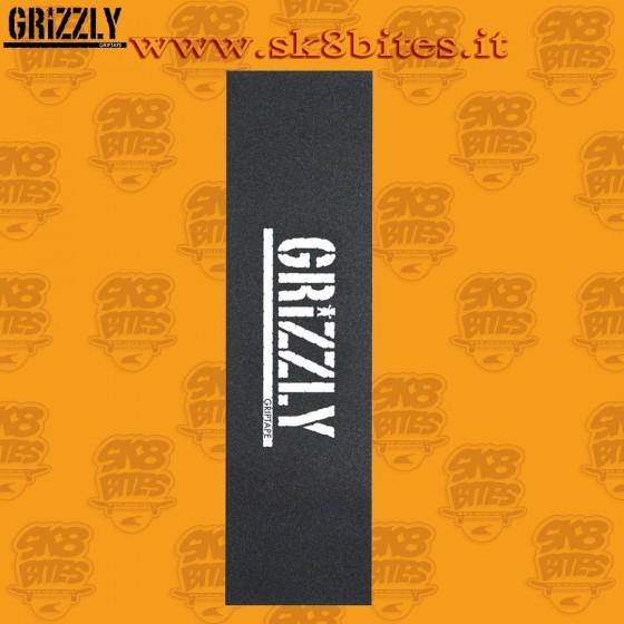 Grizzly Stamp Griptape White Street  Skateboard Grip