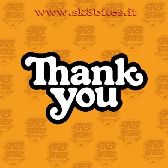 Thank you Adesivo Skateboard Longboard