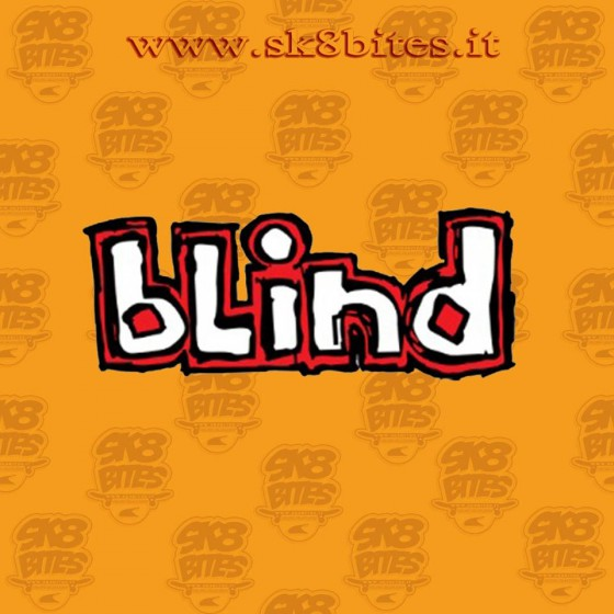Blind Logo Red-White Adesivo Skateboard Sticker
