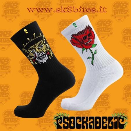 Pack Two Psockadelic Socks Skateboard Street Unisex
