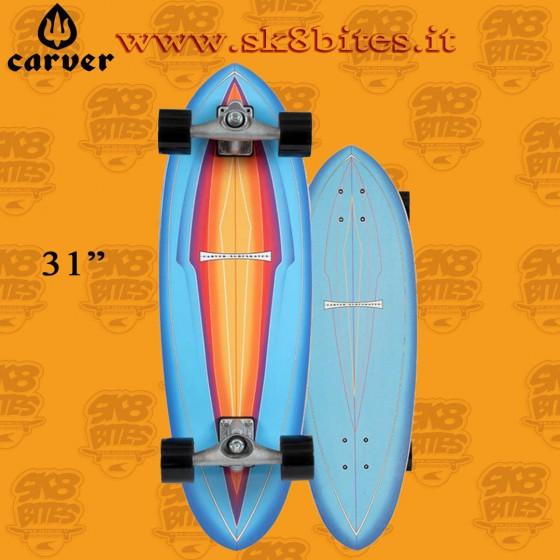 "Carver Blue Haze CX 31"" Surfskate Carving Deck"