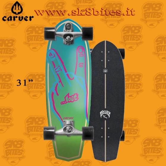 """Carver Lost Plank C7 31"""" Surfskate Carving Deck"""