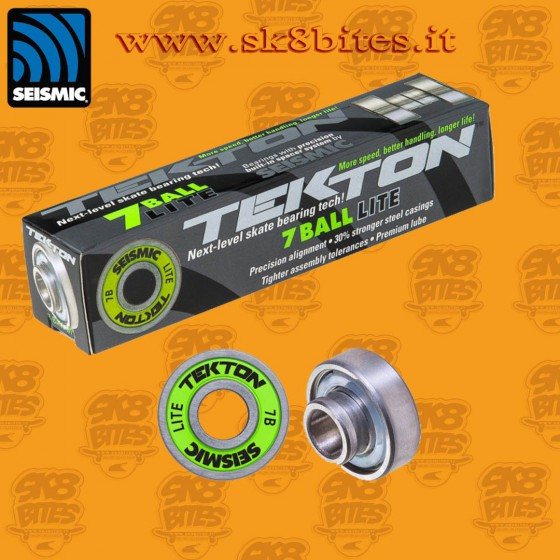 Seismic Tekton 7-Ball LITE Built-In Longboard Freeride Slide Cruising Bearings