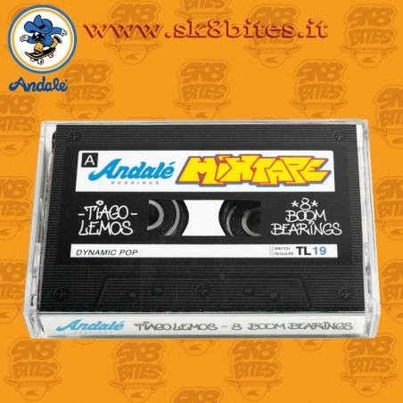 Andale Tiago Lemos Cassette Case Pro Rated Skateboard Street Pool Longboard Bearings