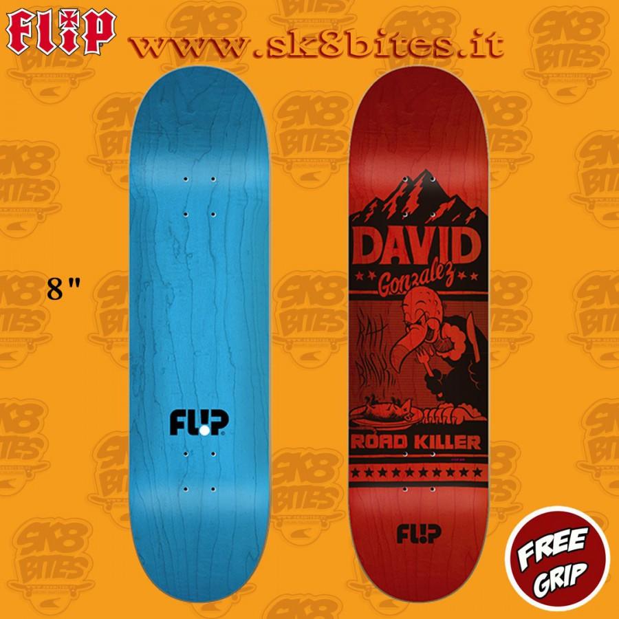 """Flip Two Tone Gonzalez 8.0"""" Skateboard Street Pool Deck"""
