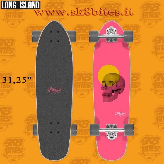 "Long Island The Cover 31.25"" Tavola Longboard Skateboard Completa Cruising  Carving"