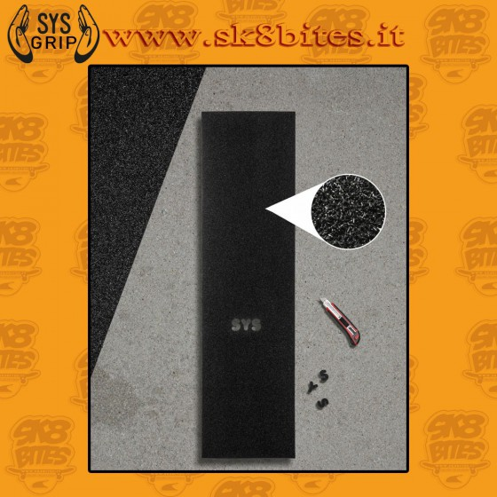 """SYS Griptape Fibers 9""""x33"""" Graphic Skateboard Grip Sheet Save Your Shoes"""