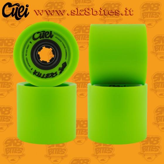 Cuei Killers 74mm 77a Green Longboard Freeride Downhill Wheels