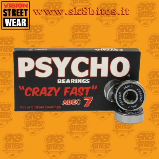 Psycho Abec 7 Cuscinetti Skateboard Street Pool Oldschool