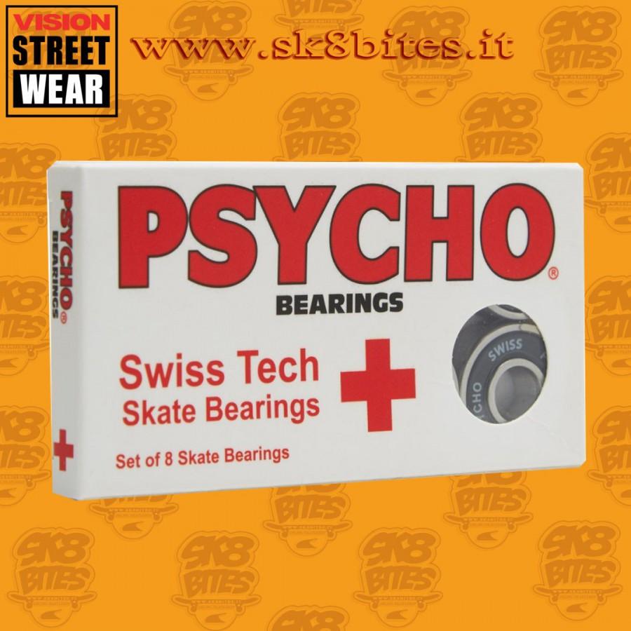 Psycho Swiss Tech Oldschool Skateboard Street Pool Bearings