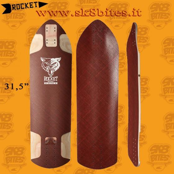 """Rocket Warewolf Red 31,5"""" Longboard Freeride Downhill Deck"""