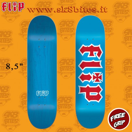 "Flip Team HKD Blue 8.5"" Skateboard Street Pool Deck"