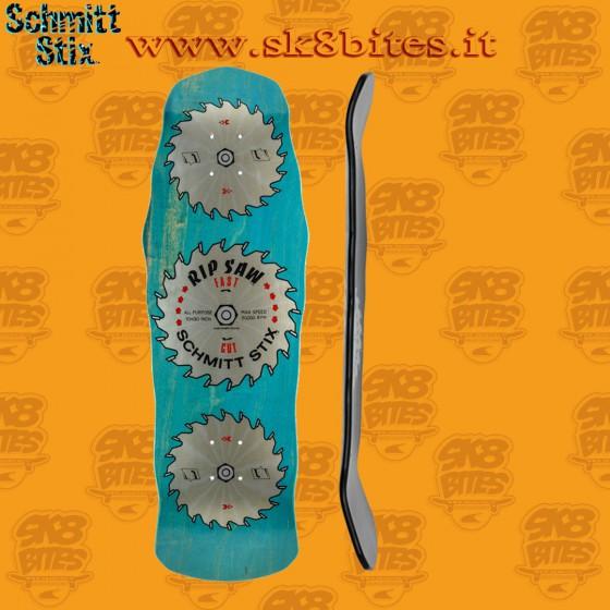 "Schmitt Stix Ripsaw Modern Concave Stain Veneer Blue 30"" Skateboard Oldschool Street Deck"