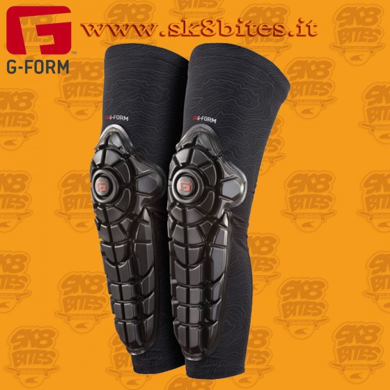 G-Form Elite Knee-Shin Guard Black Longboard Skateboard Skates Bike Pads