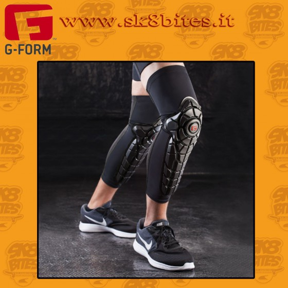 G-Form Elite Knee-Shin Guard Black Ginocchiere Skateboard Longboard Bike