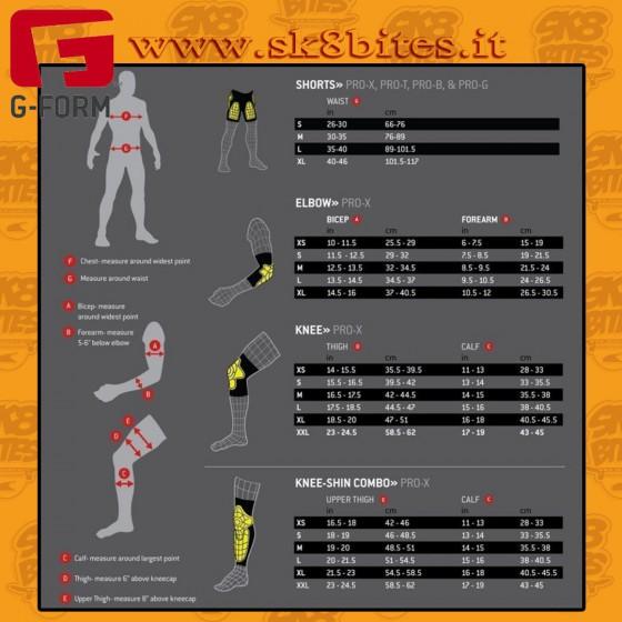 G-Form Pro-X Knee Pads Black Longboard Skateboard Skates Bike Pads