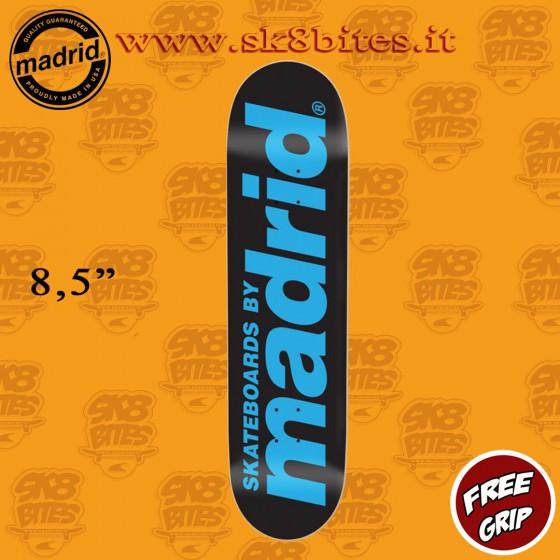 "Madrid Street Classic Logo Black 8,5"" Skateboard Street Pool Deck"