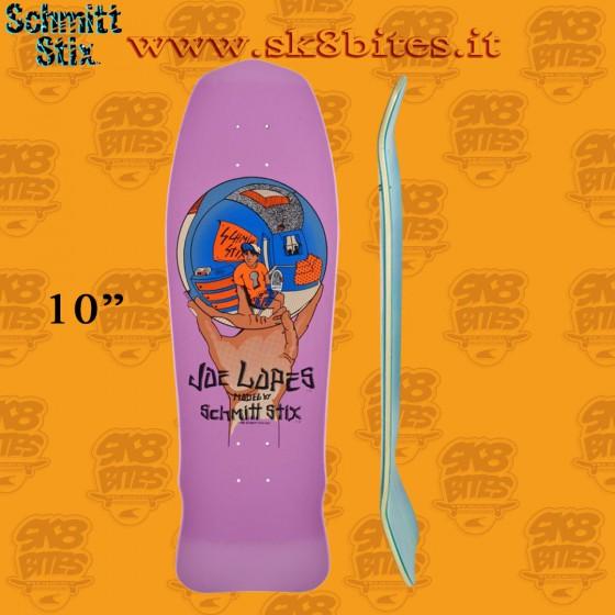 "Schmitt Stix Joe Lopes Crystal Ball Modern Concave Pink 10"" Skateboard Oldschool Pool Crusing Deck"